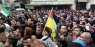 اقليم لبنان: جانب من المسيرة الجماهيرية التضامنية مع القدس  نظمتها حركة فتح في مخيم نهر البارد في ذكرى انطلاقتها الــ 53