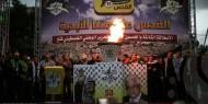 غزة: إيقاد شعلة الانطلاقة الثالثة والخمسين لحركة فتح والثورة الفلسطينية
