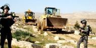 الاحتلال يجرّف 30 دونما جنوب نابلس