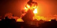 غارات اسرائيلية عنيفة على مواقع في قطاع غزة