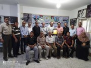 وفد من حركة فتح يزور اللجنة الشعبية للاجئين في خانيونس